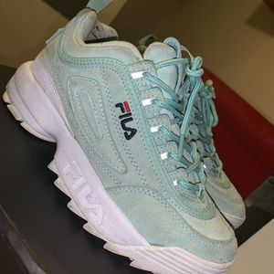Mint green Fila Disrupter